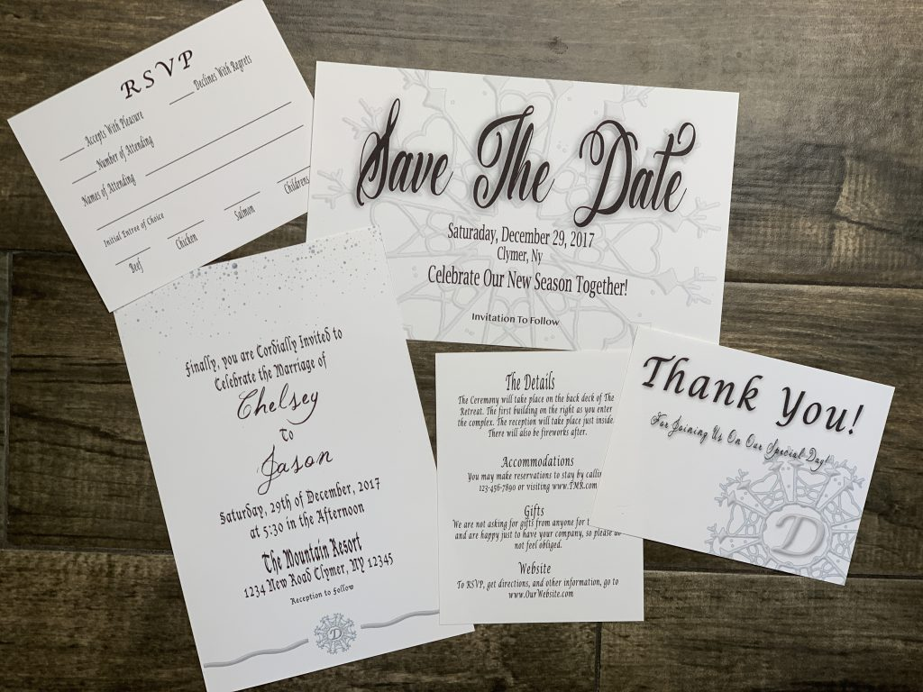 Winter Wedding Theme Invitation Set