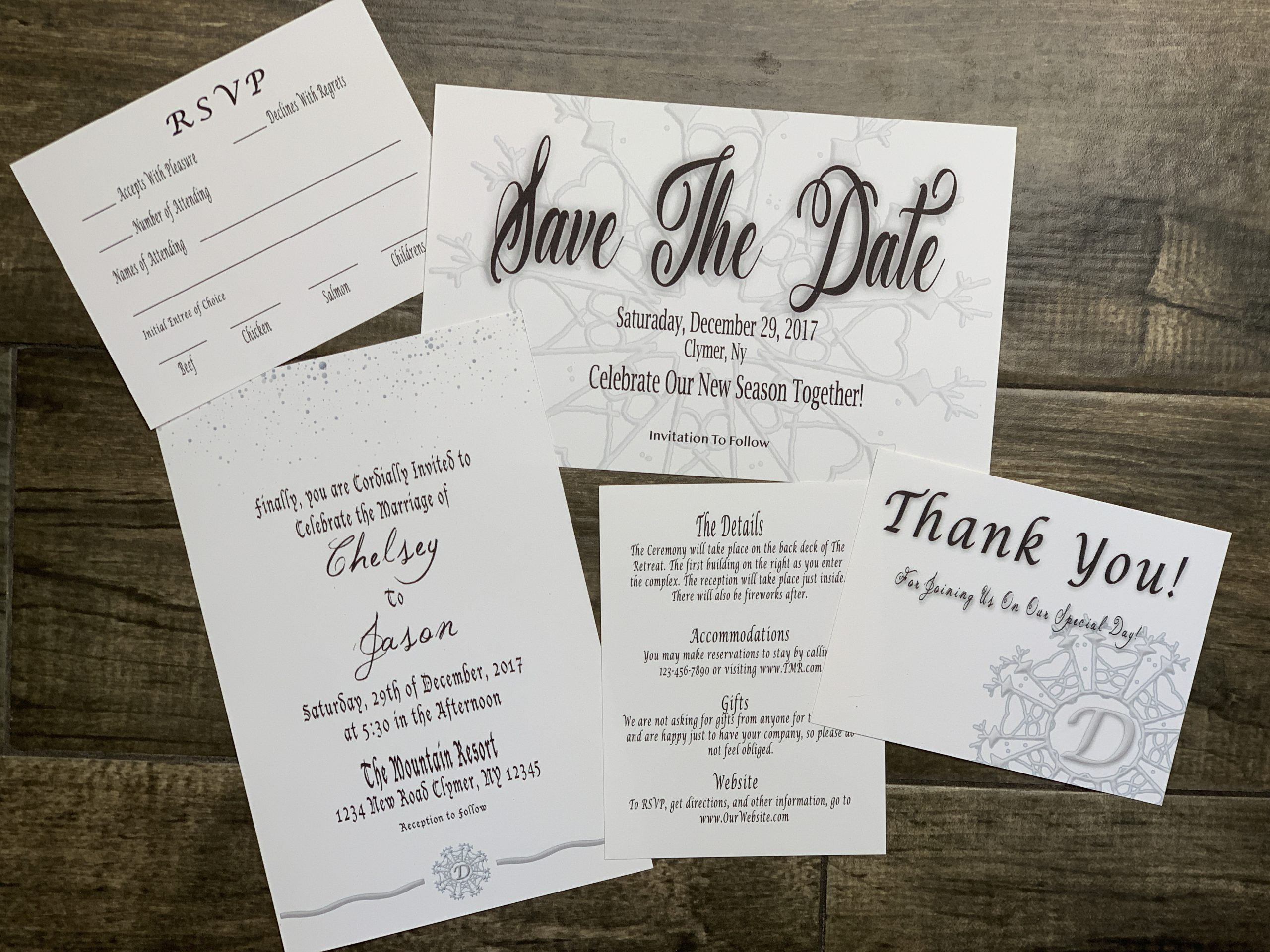 Unique Winter Wedding Invitations