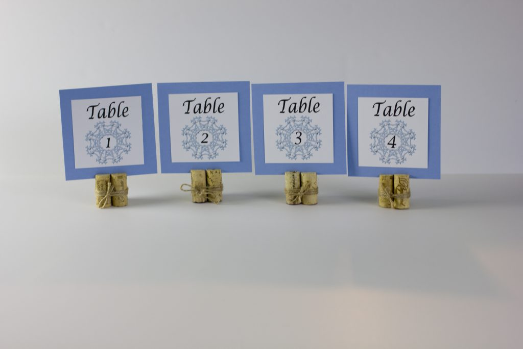 Winter Wedding Theme Table Numbers