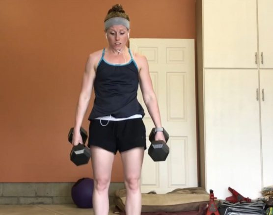 Running, Wall Balls, and Dumbbells – Total Body Workout