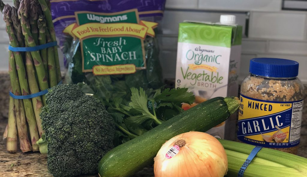 Ingredients For Yoga With Adriene's Green Soup