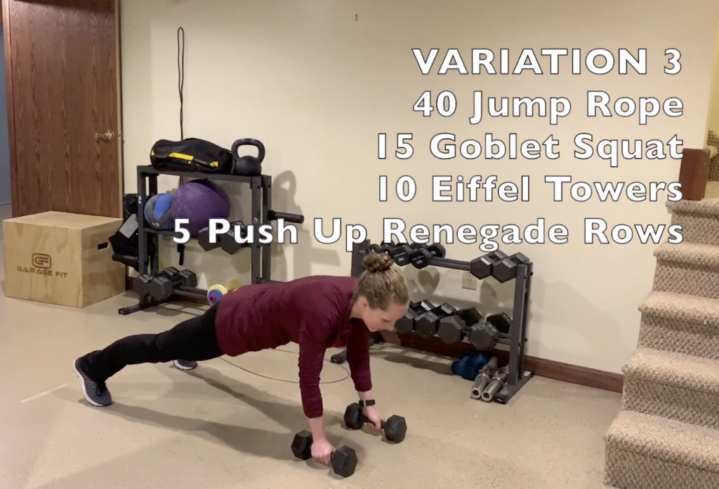 15 Minute Home Workout Variation 3