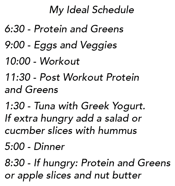 Ideal Eating Schedule