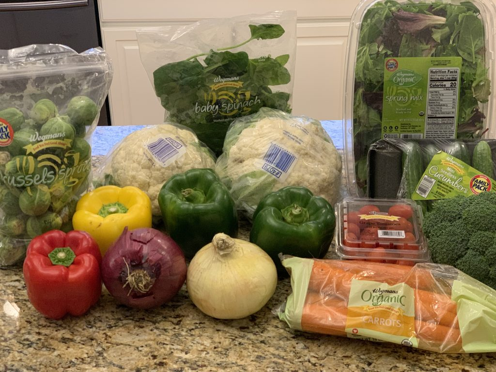 Veggies for the week.